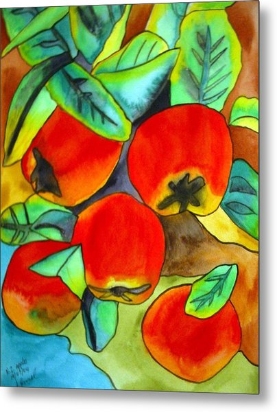 New Zealand Apples Metal Print by Sacha Grossel