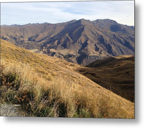New Zealand Mountains Metal Print by Ron Torborg
