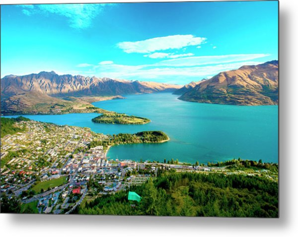New Zealand, South Island, View Towards Metal Print