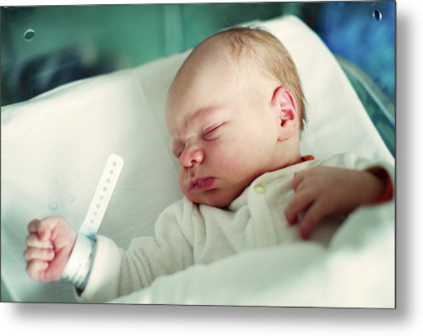 Newborn Boy. First Day Metal Print by Aleksandr Morozov