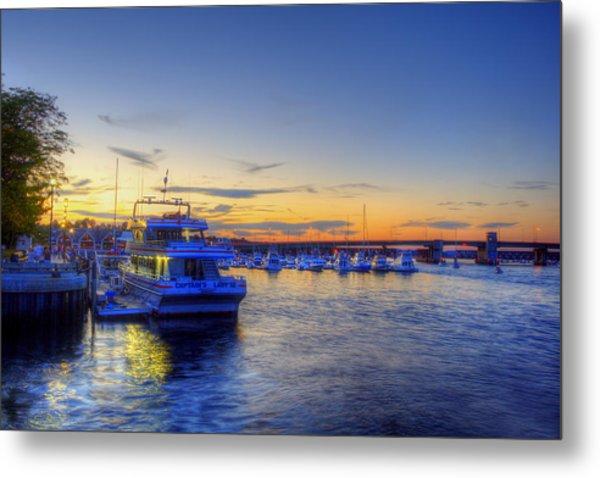 Newburyport Harbor Marina Metal Print