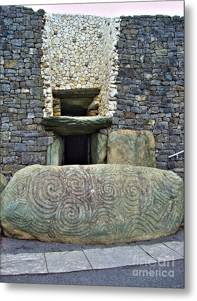 Newgrange Entrance Metal Print