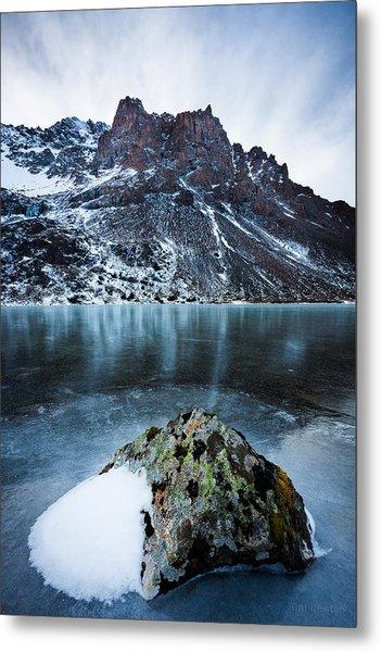 Frozen Mountain Lake Metal Print