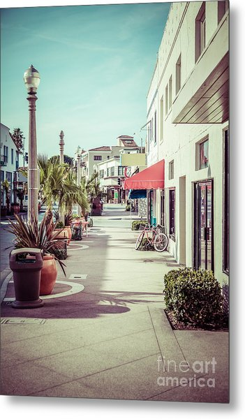 Newport Beach Main Street Balboa Peninsula Picture Metal Print by Paul Velgos