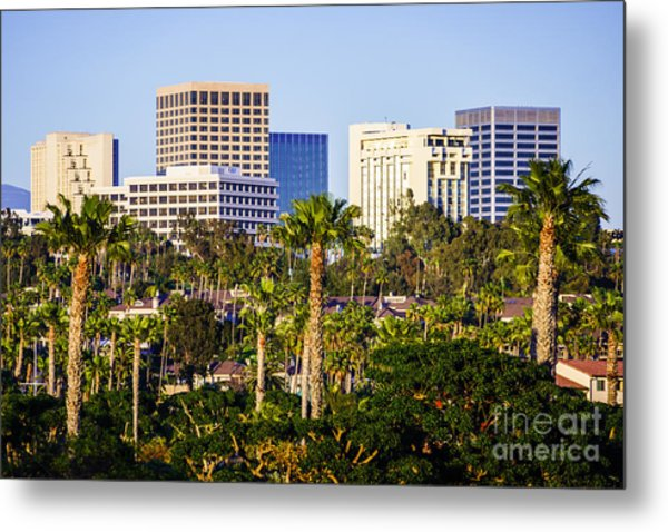 Newport Beach Skyline Picture Metal Print by Paul Velgos