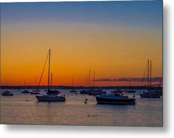 Newport Ri Sunset Metal Print by Sean Mackie