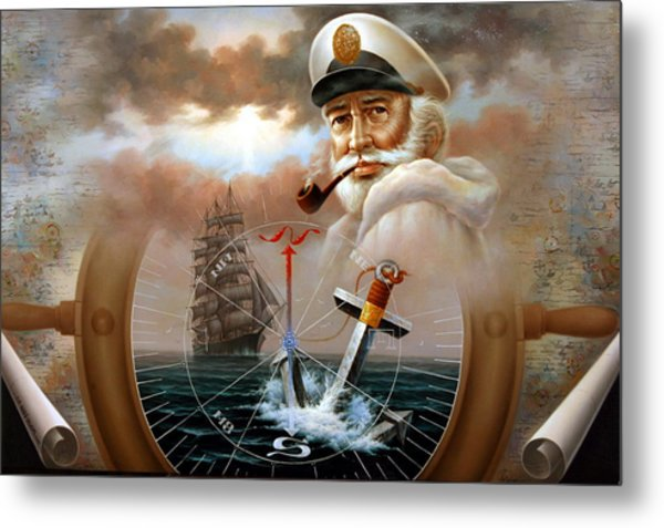 Imperishable Map Captain 2 Metal Print