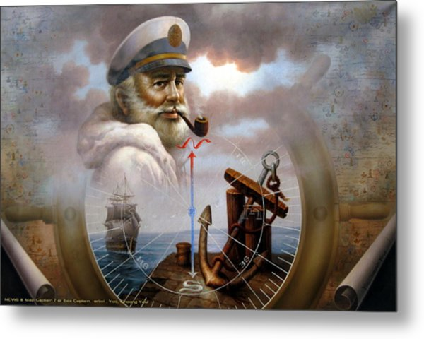 Imperishable Map Captain 7 Metal Print