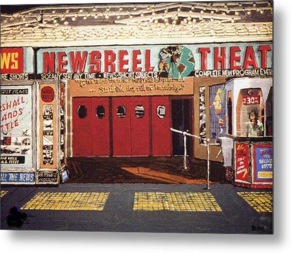 Newsreel Theatre Metal Print by Paul Guyer