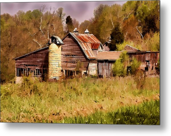 Newton Township Barn Metal Print