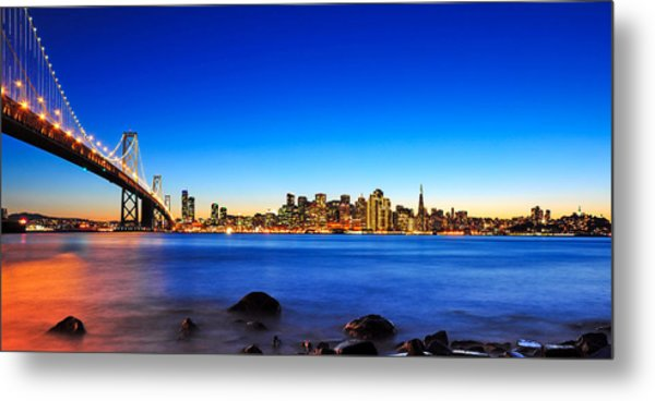 Next To The Bay Bridge And San Francisco Skyline Metal Print