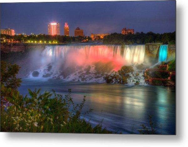 Niagara Falls Canada Sunset  Metal Print