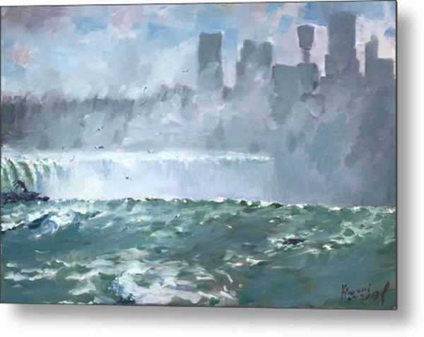 Niagara  Falls Mist  Metal Print