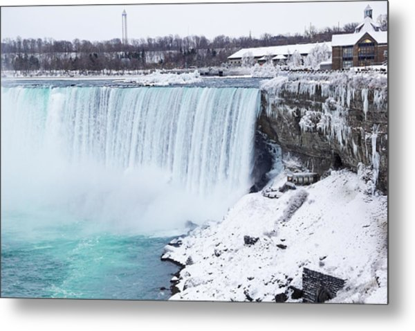 Niagara Falls Winter Metal Print