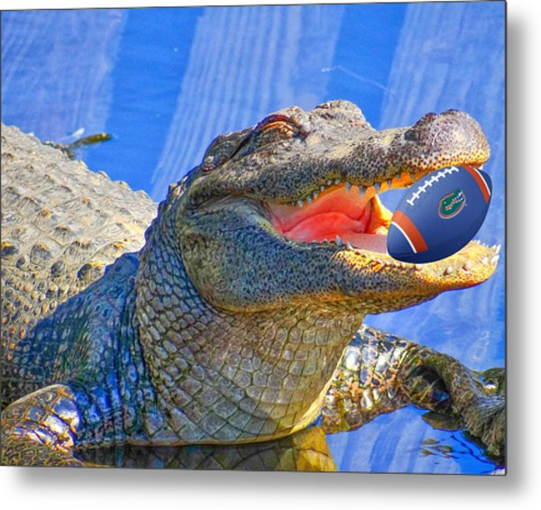 Nice Catch Metal Print