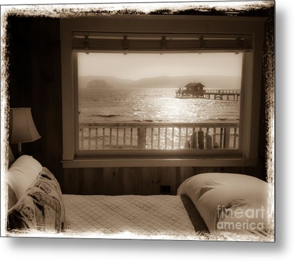 Dreamy Waterfront Cottage Metal Print by Amy Fearn