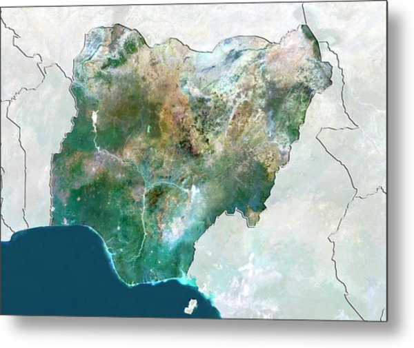 Nigeria Metal Print by Planetobserver/science Photo Library