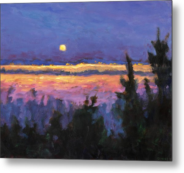 Night Across The Bay Metal Print