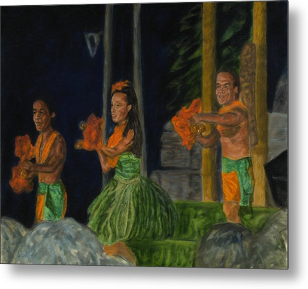 Night At The Luau Metal Print