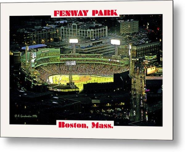 Night Baseball Fenway Park Boston Massachusetts Metal Print by A Gurmankin