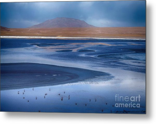 Laguna Colorada - Night Blue Metal Print