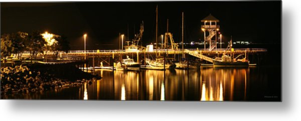Night Boats Metal Print by Melisa Meyers