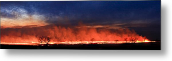 Night Burn Metal Print