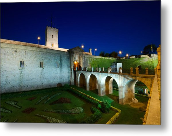 Night Castle Metal Print by Ioan Panaite