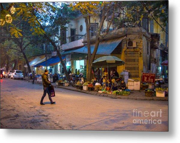 Night Crossing Hanoi Metal Print