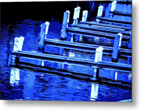 Night Docks Metal Print