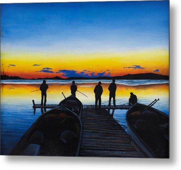 Night Fishing Metal Print