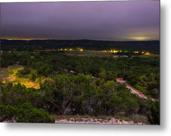Night In A Texas Hill Country Valley Metal Print
