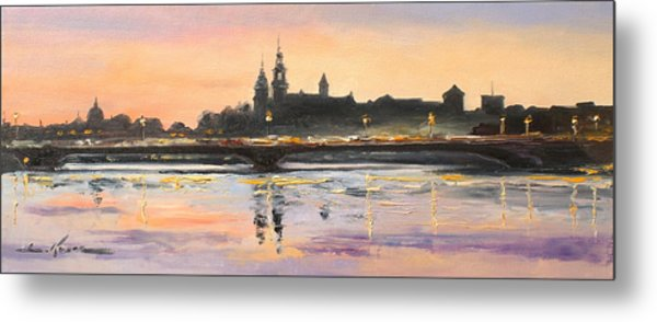 Night In Krakow Metal Print