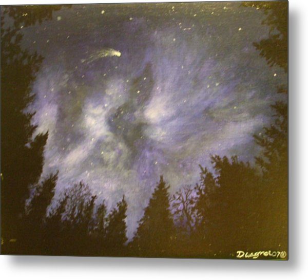 Night In The Forrest Metal Print