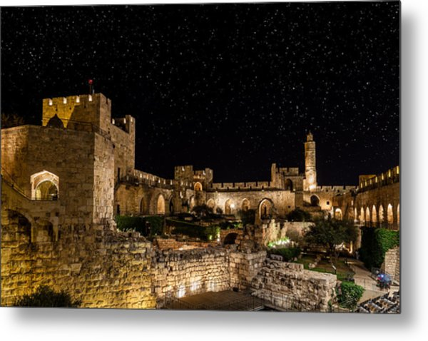 Night In The Old City Metal Print