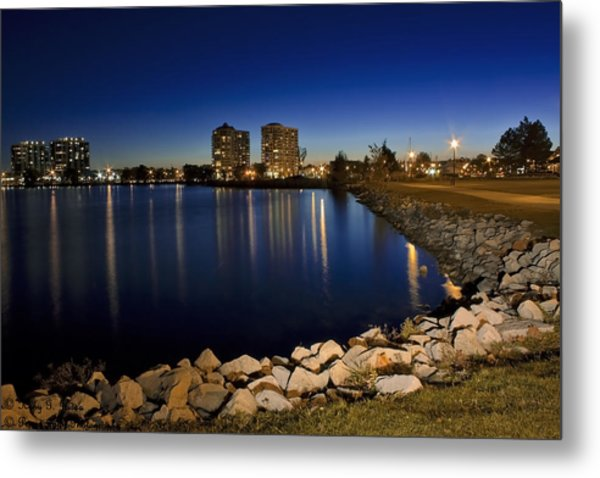 Night Light In Barrie Metal Print