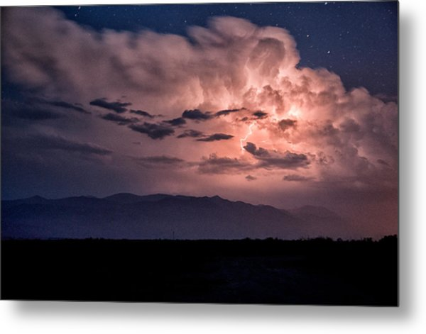 Night Lightning Metal Print