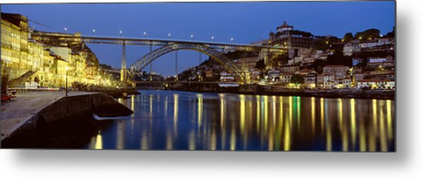 Night, Luis I Bridge, Porto, Portugal Metal Print
