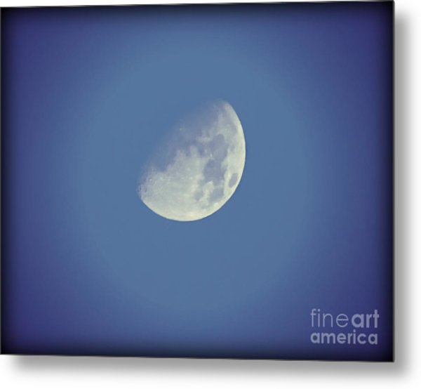 Night Moon Rising Metal Print
