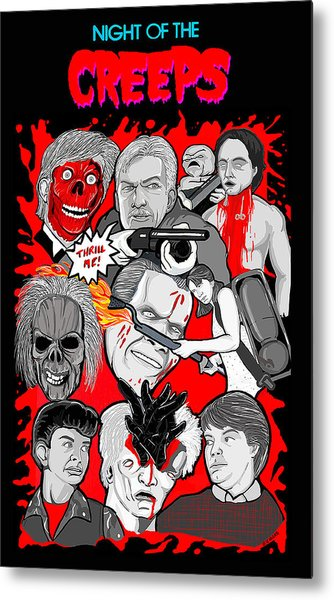 Night Of The Creeps  Metal Print by Gary Niles