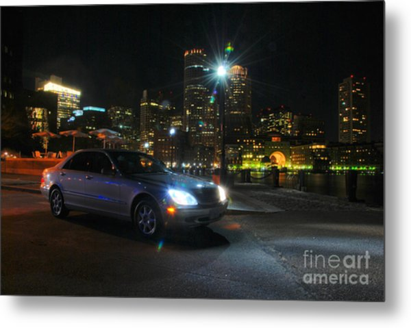 Night Out In Boston Metal Print