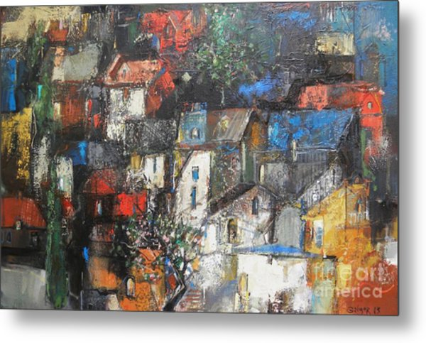 Night Over The Town Metal Print