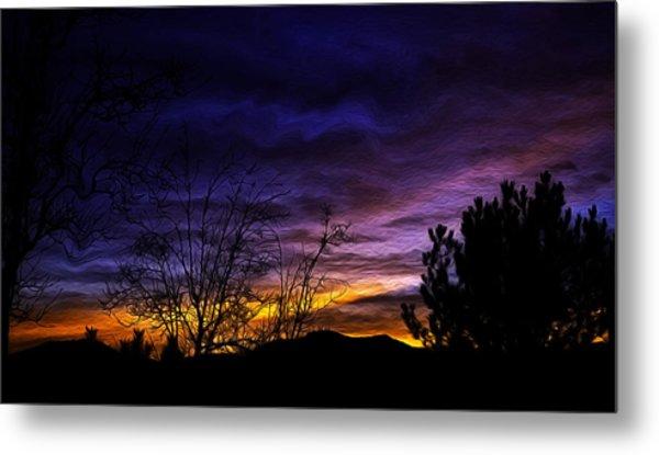 Night Paints The Sky Metal Print by Nancy Marie Ricketts