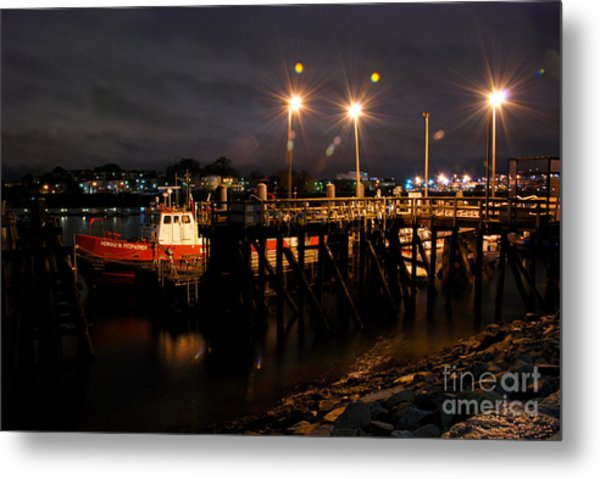 Night Pier Metal Print