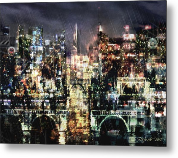 Night-scape Metal Print