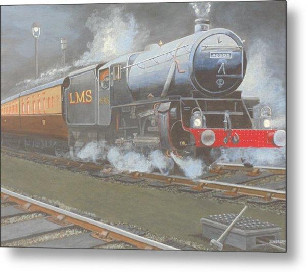 Night Train Metal Print by James Lawler