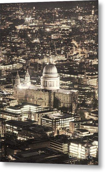 Night View Over St Pauls Metal Print