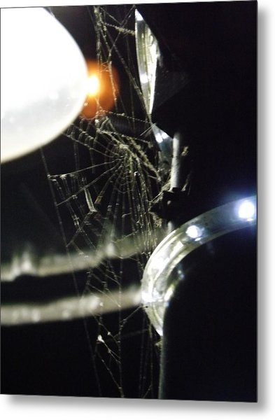 Night Web Metal Print