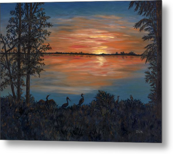 Nightfall At Loxahatchee Metal Print