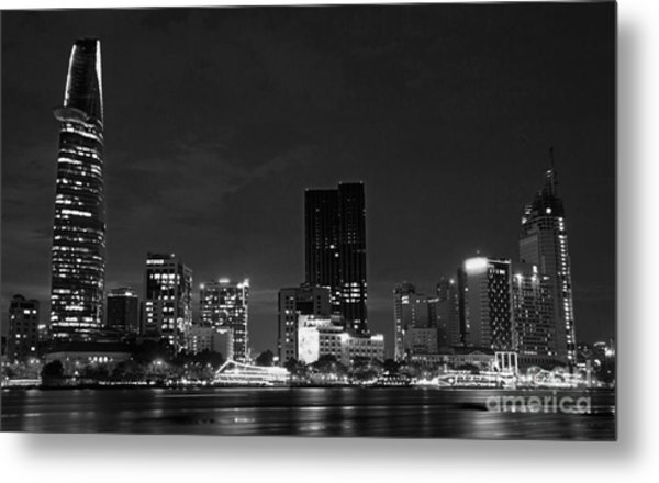 night Ho Chi Minh city Metal Print